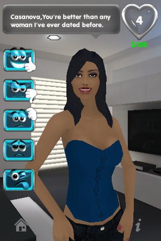 Interactive girlfriend game